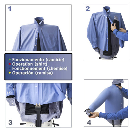 EOLO SA01 PROFESSIONAL Mannequin iron and dry shirts, blouses, polo, sweatshirts
