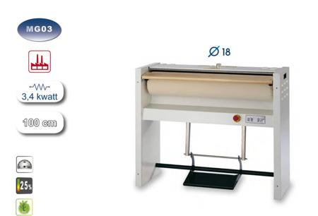 Professional roller ironer EOLO MG04 4 kwatt 120 cm base with legs